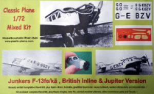 Junkers F13 fe/kä, British inline & Jupiter Version