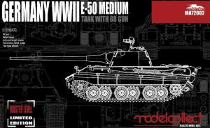 Germany WWII E-50 Medium Tank with 88 Gun